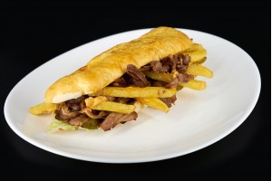 Kebab cu carne de vita, servit la farfurie,  300gr